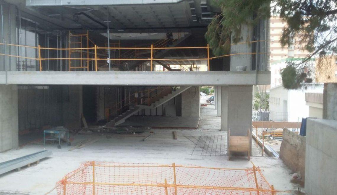 Las obras de Diaz Cubero en la biblioteca de Algeciras avanzan a buen ritmo